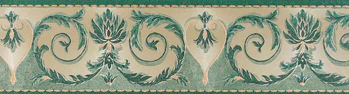 Бумажный бордюр, зеленый