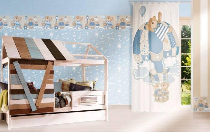 Детская комната, применение бордюра