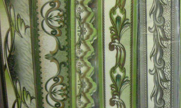 Бордюры зеленого и серого цветов