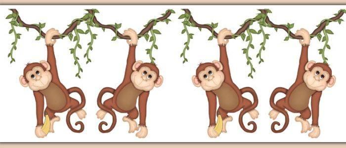 Бордюр с обезьянками
