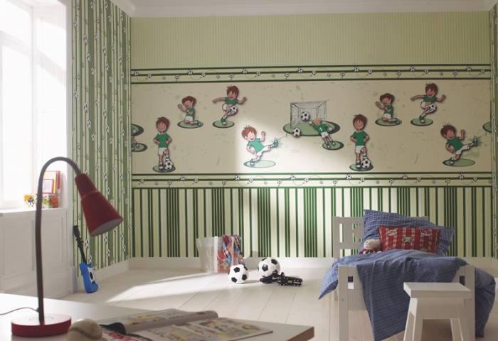 Футбольный дизайн спальни мальчика