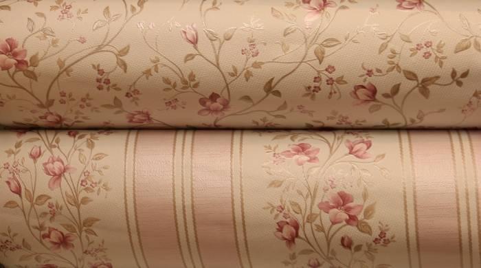 Бумажные обои в причудливом розовом исполнении