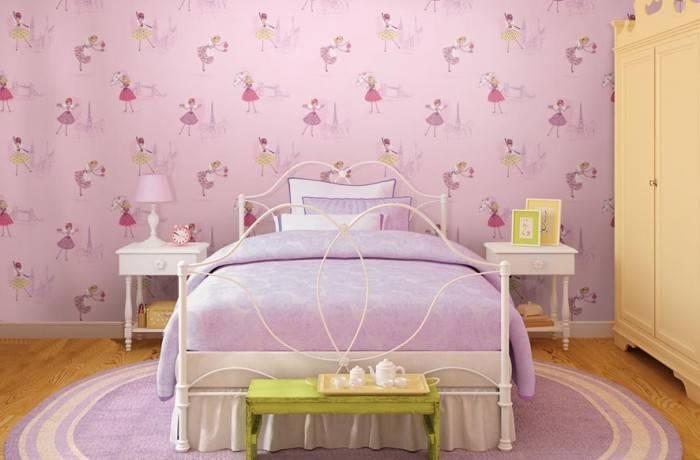 Детская спальня в сиреневом цвете