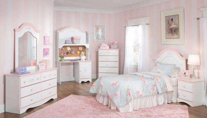 Детская комната в молочно-розовом стиле