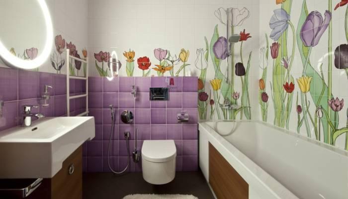 Ванная комната в цветах