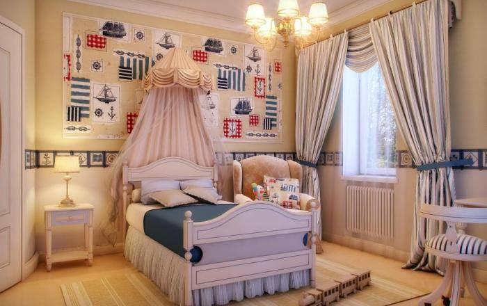 Спальня малыша с декоретто и бордюром