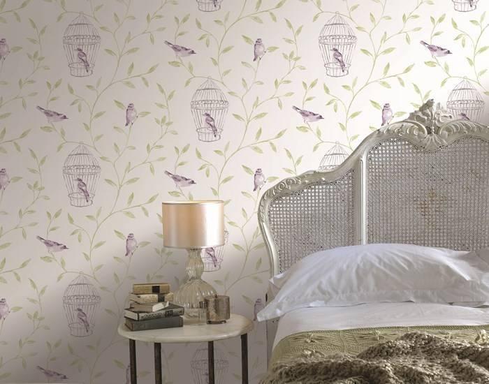 Обои с птицами для спальни