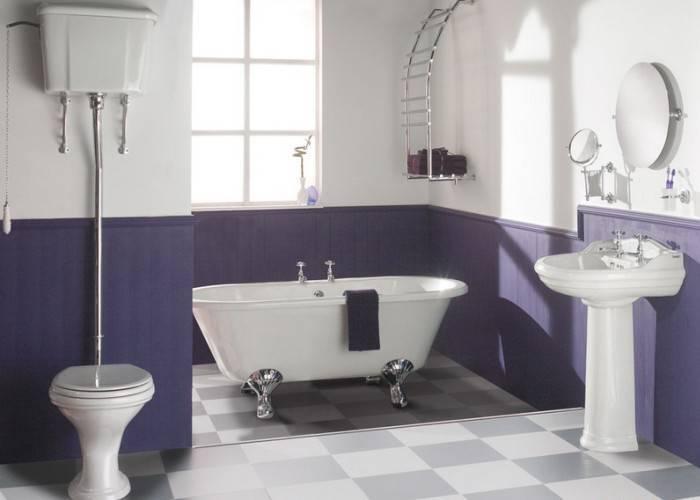 Стеклообои под покраску в ванной