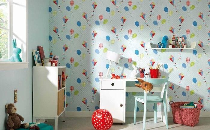 Детская комната, бумажные обои