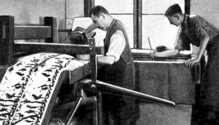 Ручное производство обоев