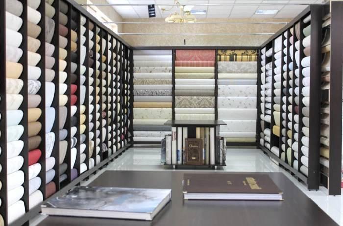 Обойный зал в магазине