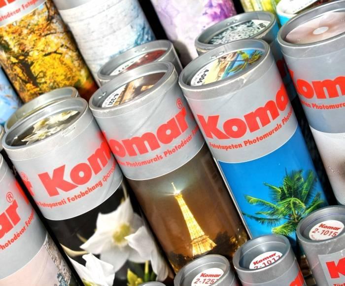 Тубусы с фотообоями фирмы Komar