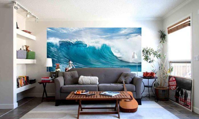 Фотообои с видом волны