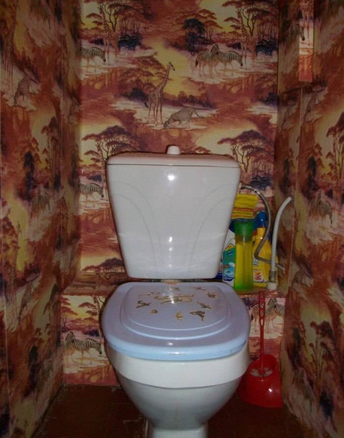 Обои с африкой в туалете