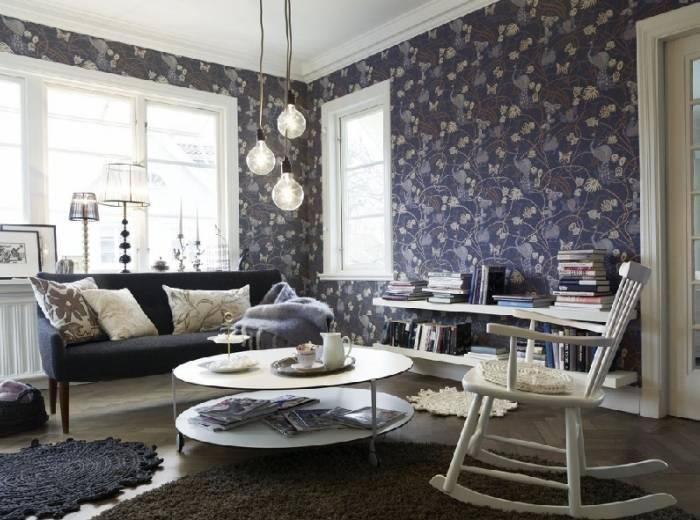 Шведский дизайн гостиной