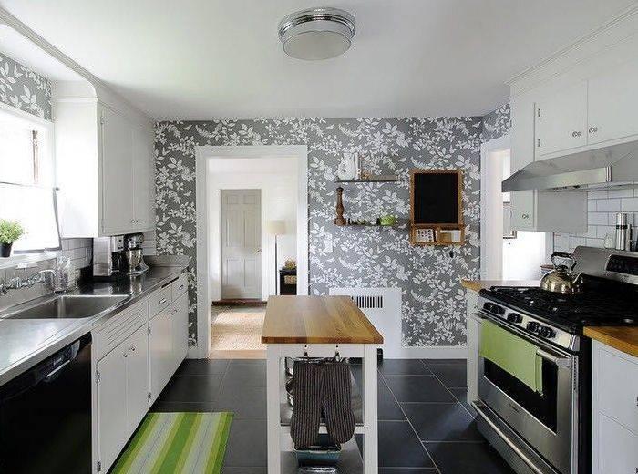 Флизелиновые обои для кухни