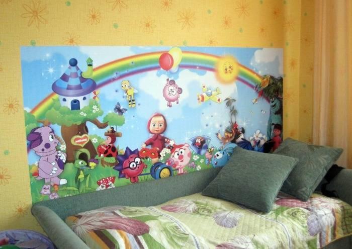 Применение украшений для детской комнаты