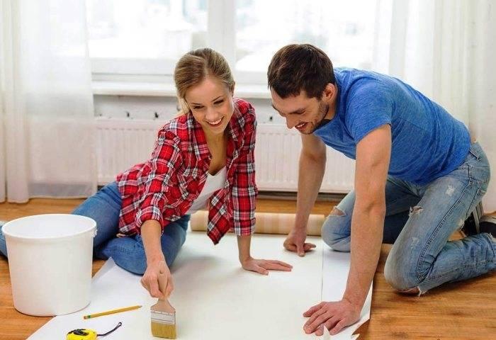 Работы по ремонту в семье