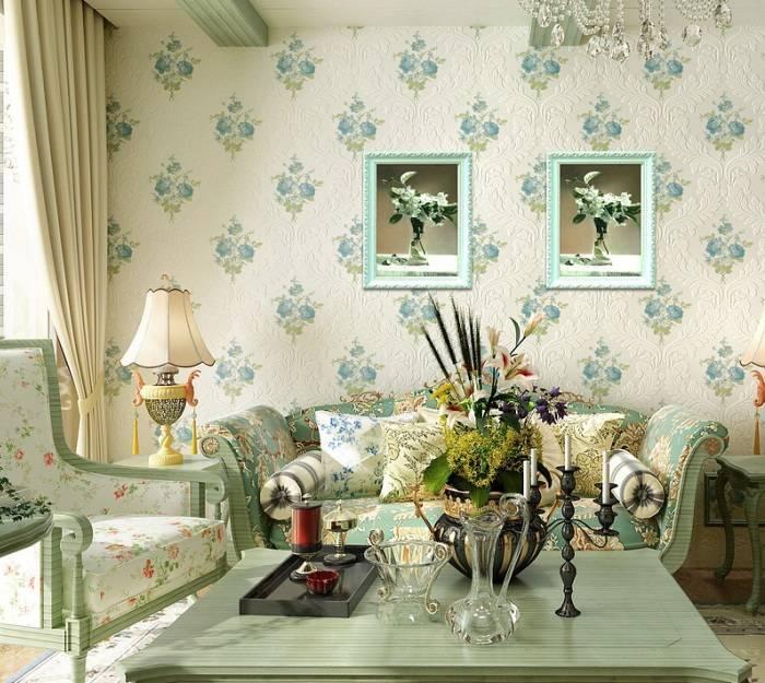 Приятный дизайн гостиной комнаты