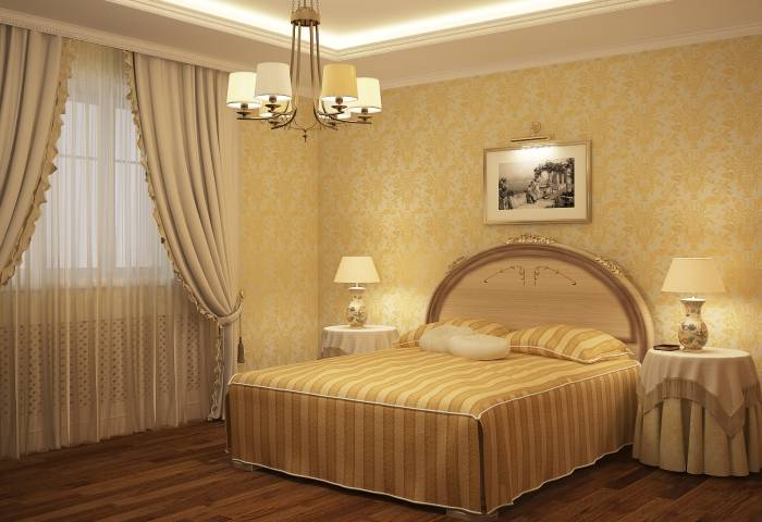 Небольшая уютная спальня