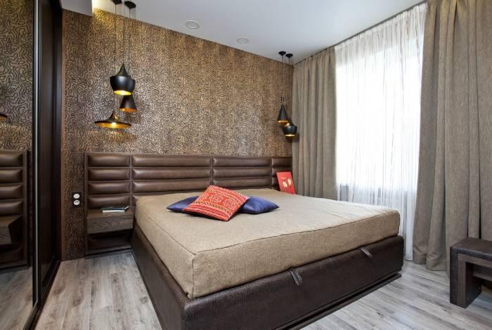 Проработаный до мелочей интерьер спальни