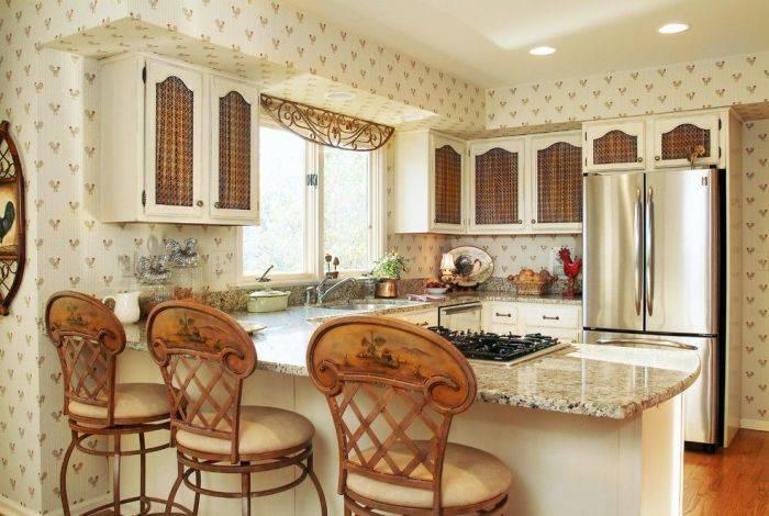 Интерьер кухни в стиле ретро