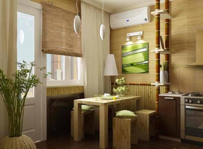Натуральный и недолговечный интерьер кухни