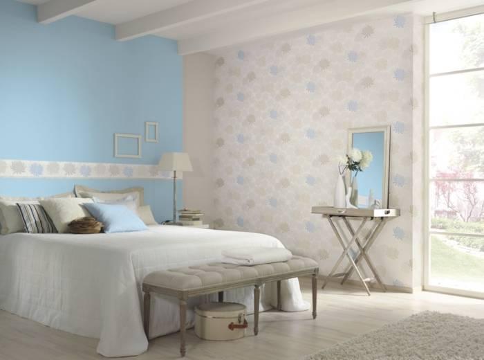 Голубой интерьер комнаты отдыха