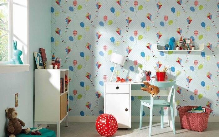 Детская комната, бумажные обои, которые производит Германия весьма уместны