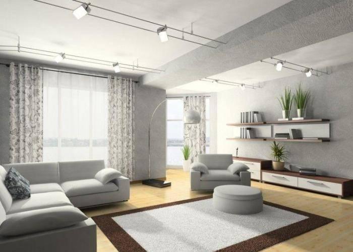 Серый зал больших размеров