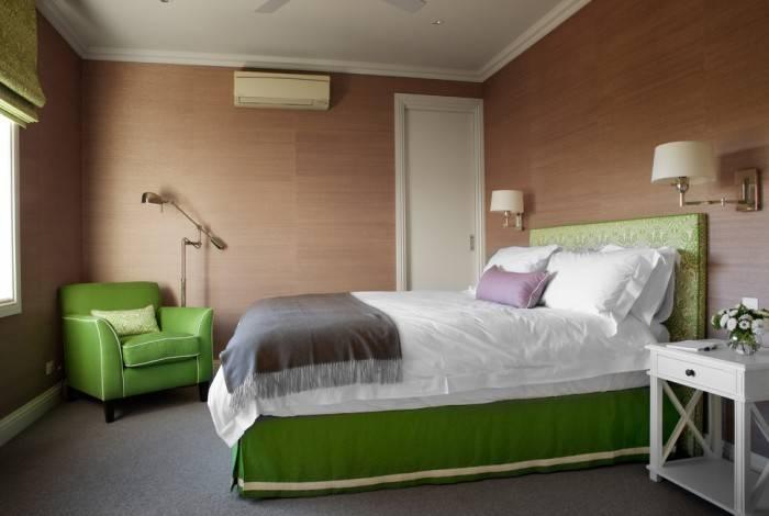 Нестандартные цвета в спальне