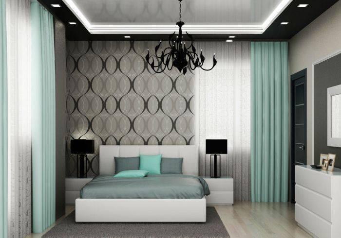 использование серого в интерьере спальни