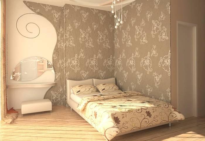 Сбалансированный интерьер спальни