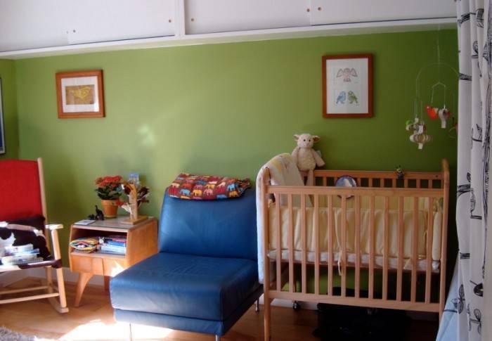 Экологичные обои и краска для стен в детской