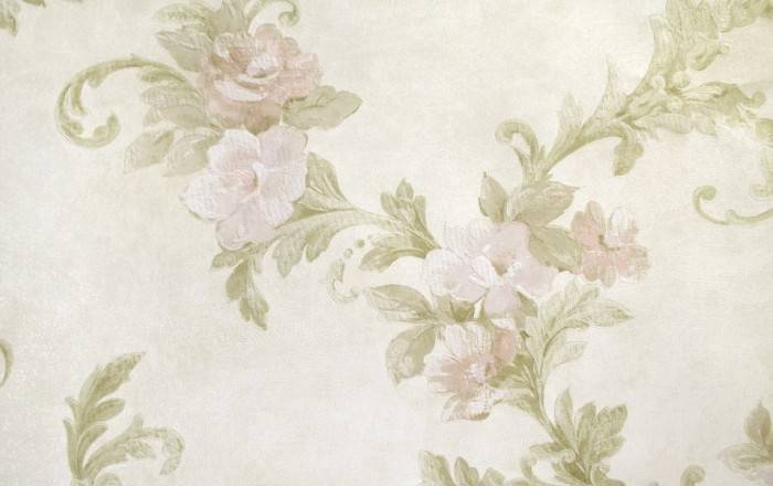 Обои типа шелкография, цветочная тематика