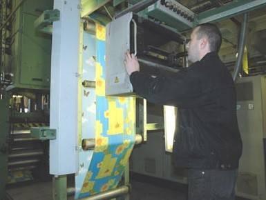 Станок для производства бумажных обоев