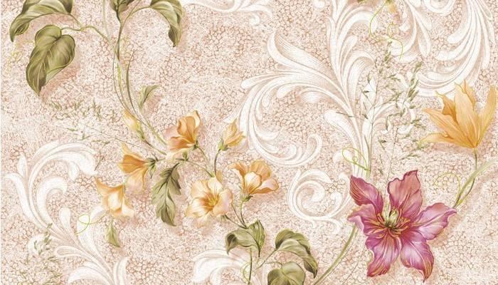 Симплексные обои цветочной тематики