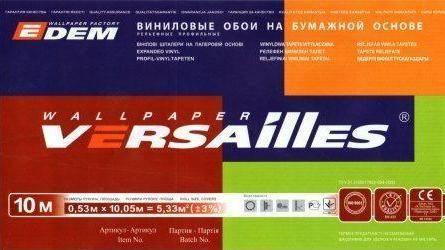Этикетка от украинских обоев Версаль