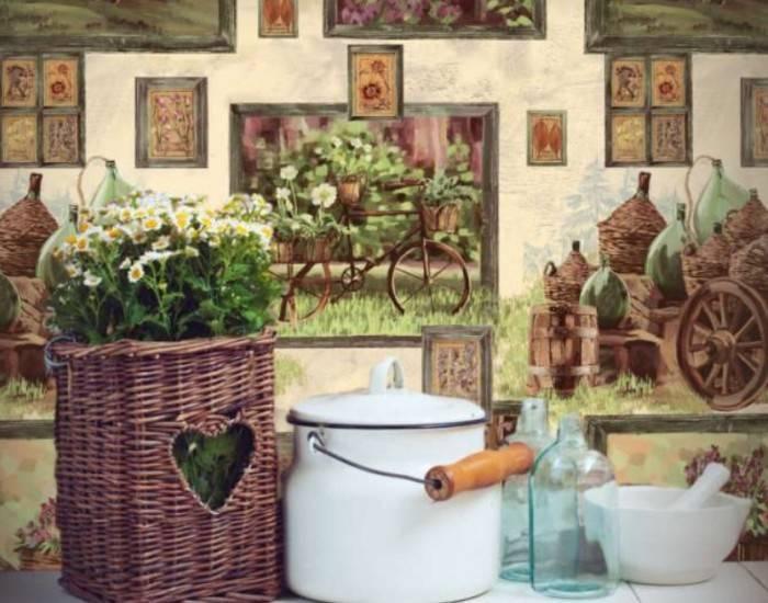 Коллекция виниловых обоев на деревенскую тематику