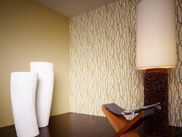 Ровные и красивые стены, оклеенные виниловыми обоями
