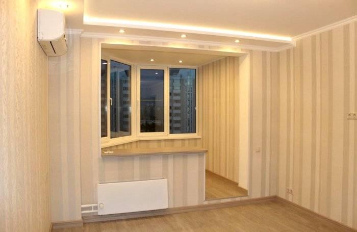 Увеличение объемов комнаты с помощью полосатых обоев