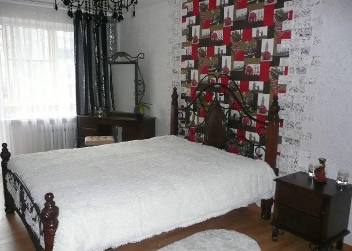 Обои с изображениями Британии в спальне