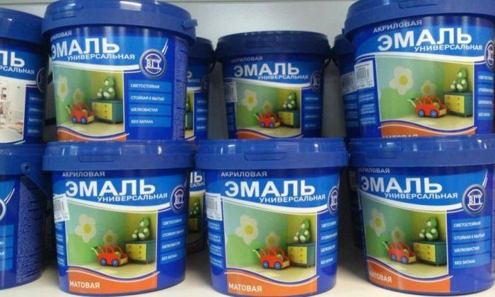 Акриловая краска, произведенная в России