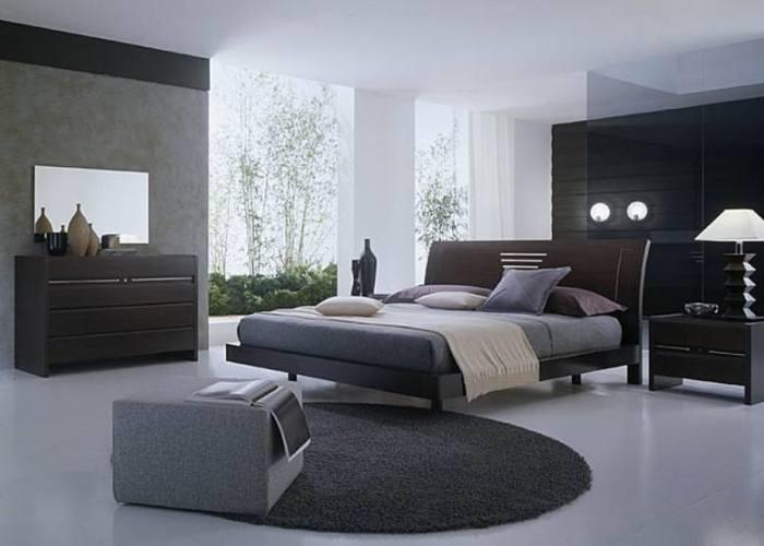Спальня в серых цветах