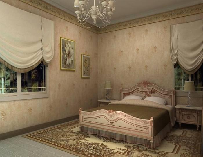 Дизайн спальни в спокойных тонах