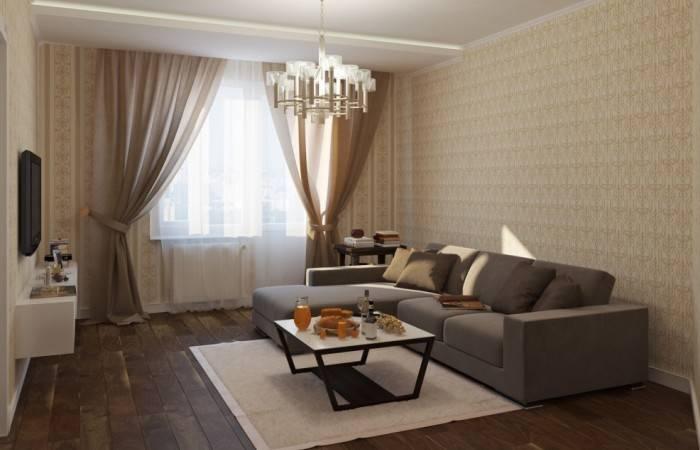 Хороший интерьер типичной гостиной в многоэтажке
