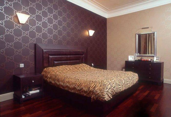 Применение шелкографии в спальне