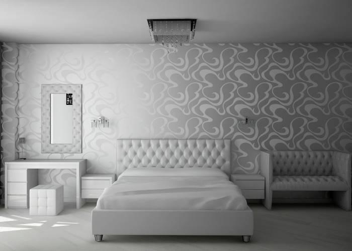 Унылый интерьер в спальне