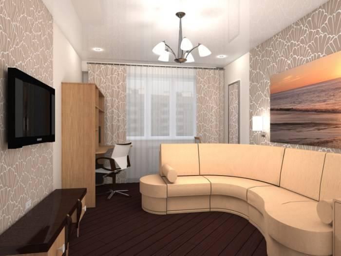 Дизайн-проект интерьера большой комнаты