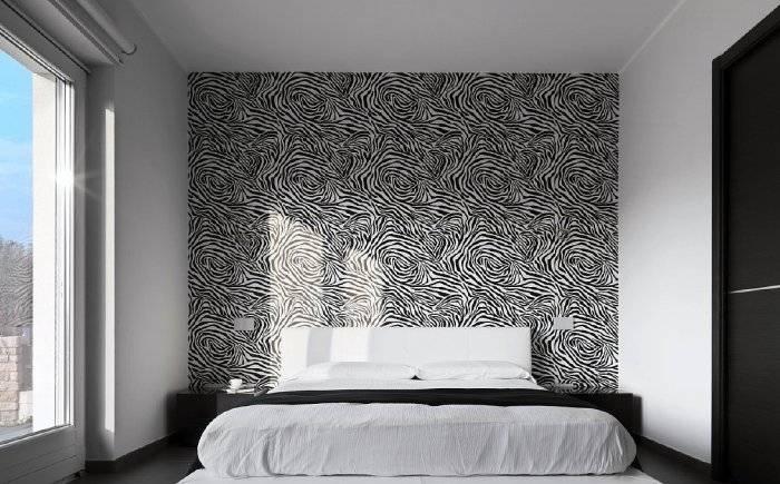 Мнимализм в спальне, применение черного и белого цветов